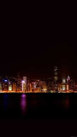 Iphone6papers Aa24 Hongkong Skyline City Dark Art