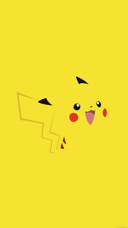papers.co-aa35-pika-pikachu-illust-minimal-art-33-iphone6-wallpaper