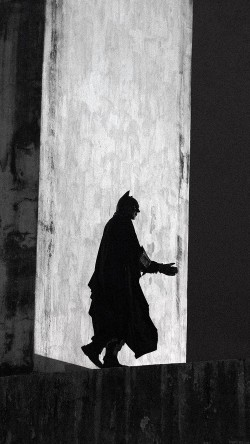 An anti-government demonstrator dressed as comic book superhero Batman walks in the Arcos da Lapa water duct during a protest against police violence in Rio de Janeiro