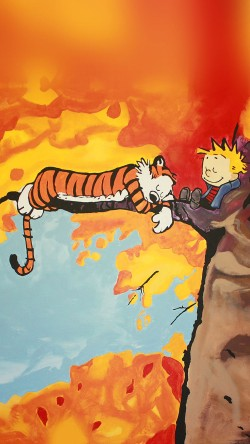 papers.co-aa52-calvin-and-hobbes-tree-nap-illust-art-33-iphone6-wallpaper