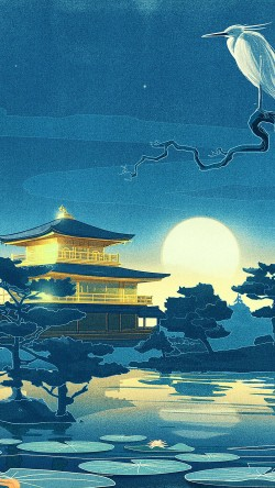 Iphone6papers Ab43 Wallpaper Slumber Blue Art Illust