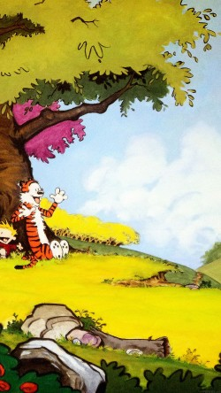 papers.co-ac48-wallpaper-calvin-and-hobbes-after-nap-33-iphone6-wallpaper