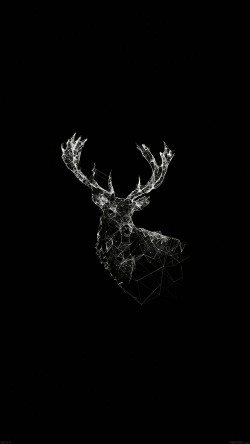papers.co-ad29-deer-animal-illust-dark-33-iphone6-wallpaper