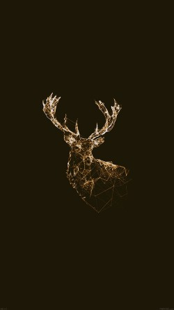 papers.co-ad31-deer-animal-illust-choco-33-iphone6-wallpaper