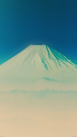 papers.co-ad52-fuji-blue-mountain-alone-33-iphone6-wallpaper