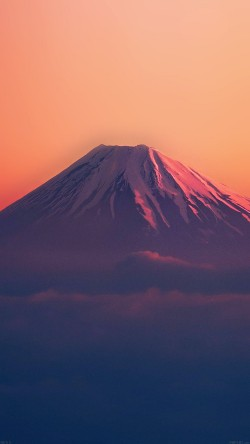 papers.co-ad53-fuji-red-mountain-alone-33-iphone6-wallpaper