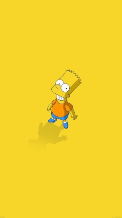 papers.co-af48-hi-i-am-bart-simpsons-minimal-cartoon-33-iphone6-wallpaper
