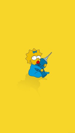 papers.co-af69-simpsons-maggie-cute-illust-cartoon-art-33-iphone6-wallpaper