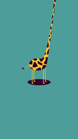 papers.co-ag52-giraffe-cute-blue-minimal-simple-33-iphone6-wallpaper