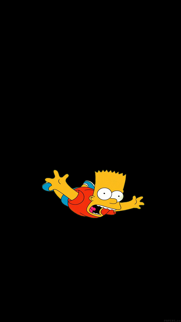 Iphone6papers Ag70 Bart Simpson Funny Cute Illlust