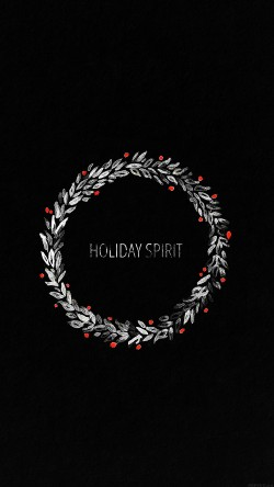 papers.co-ah24-holiday-spirit-minimal-dark-christmas-art-33-iphone6-wallpaper