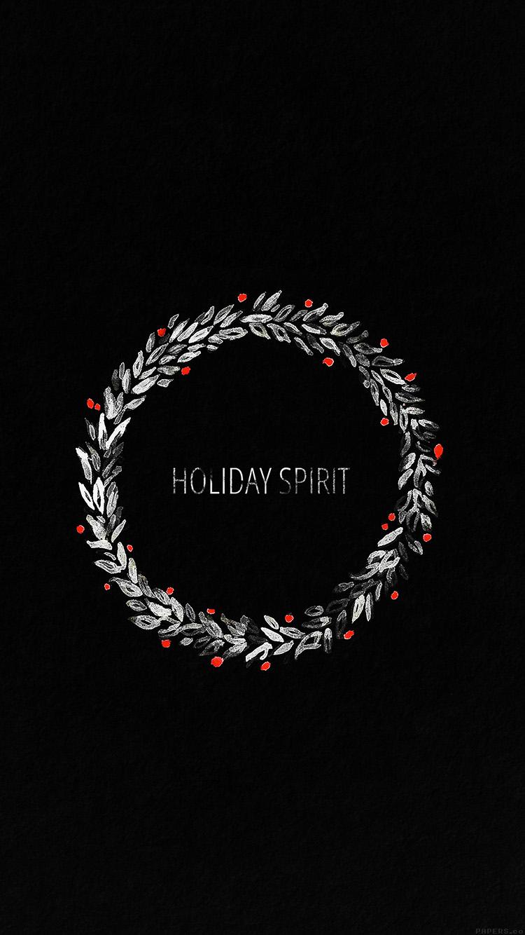 Iphone6papers Ah24 Holiday Spirit Minimal Dark Christmas Art