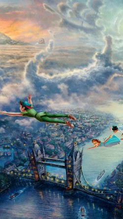 papers.co-ah26-peterpan-illust-art-thomas-kinkade-33-iphone6-wallpaper