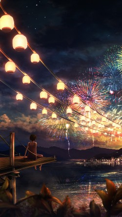 papers.co-ah43-firework-girl-dark-night-anime-art-illust-33-iphone6-wallpaper