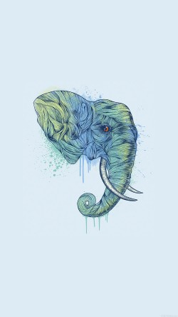 papers.co-ah76-elephant-art-illust-drawing-animal-33-iphone6-wallpaper