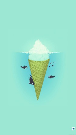 papers.co-ah80-whale-illust-green-sea-icecream-iceberg-33-iphone6-wallpaper