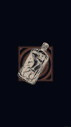 papers.co-ai20-rat-in-bottle-art-dark-illust-cute-minimal-33-iphone6-wallpaper