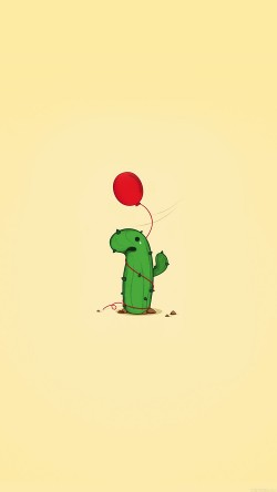 papers.co-ai35-cute-cactus-ballon-illust-art-minimal-33-iphone6-wallpaper