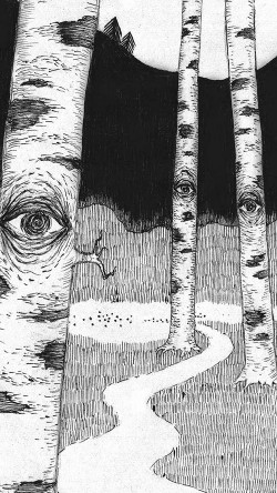 papers.co-ai46-eye-in-woods-pencil-drawing-art-illust-33-iphone6-wallpaper