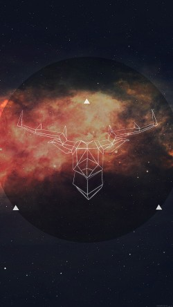 papers.co-ai68-art-illust-deer-space-33-iphone6-wallpaper