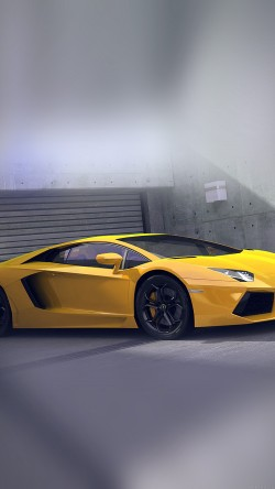 papers.co-ai90-yellow-lamborghini-parked-car-art-33-iphone6-wallpaper
