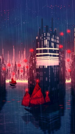 papers.co-aj08-rainy-anime-city-art-illust-33-iphone6-wallpaper