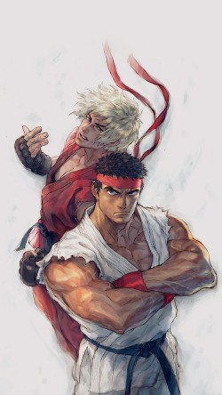 papers.co-aj10-anime-street-fighters-ryu-ken-art-illust-33-iphone6-wallpaper