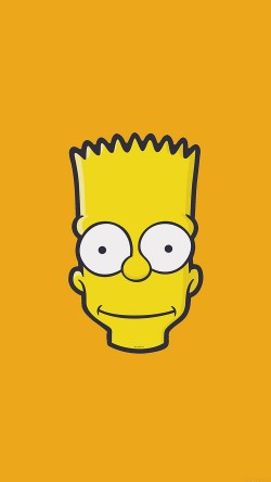 papers.co-aj30-bart-face-art-illust-yellow-simpsons-minimal-simple-33-iphone6-wallpaper