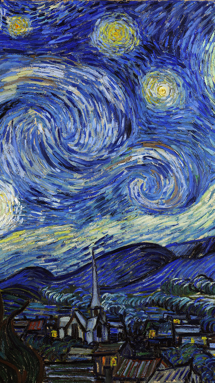 IPhone6papers   Aj42 Vincent Van Gogh Starry Night Classic Painting Art  Illust