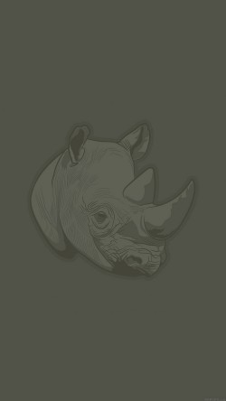 papers.co-aj51-thoughtful-rhino-minimal-illust-art-33-iphone6-wallpaper
