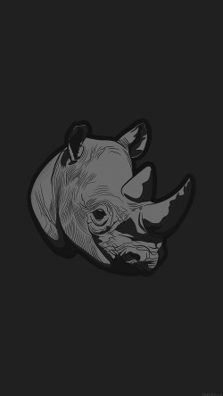 papers.co-aj54-thoughtful-rhino-dark-minimal-illust-art-33-iphone6-wallpaper