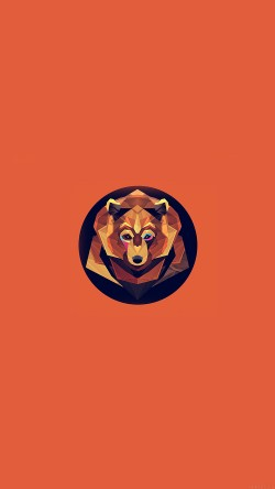 papers.co-ak05-bear-polygon-art-animal-orange-33-iphone6-wallpaper