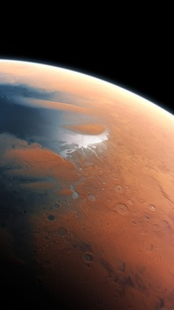 Artist's impression of Mars four billion years ago