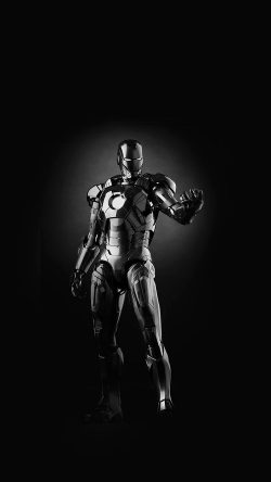 papers.co-am00-ironman-dark-figure-hero-art-avengers-bw-33-iphone6-wallpaper