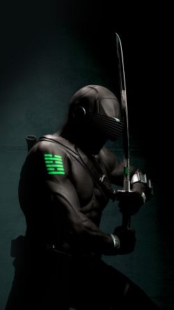 papers.co-am28-gi-joe-snake-eye-ninja-art-dark-hero-green-33-iphone6-wallpaper