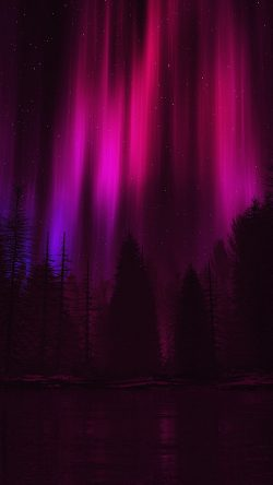 papers.co-ao05-aurora-night-sky-dark-red-nature-art-33-iphone6-wallpaper