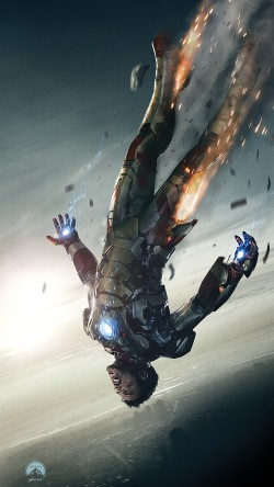 papers.co-ao34-ironman-3-falling-hero-art-illust-33-iphone6-wallpaper