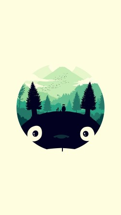 papers.co-ao36-totoro-art-illust-simple-cute-33-iphone6-wallpaper