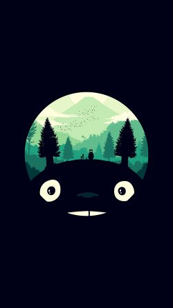 papers.co-ao38-totoro-art-illust-simple-cute-dark-33-iphone6-wallpaper