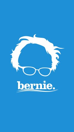 papers.co-ap24-bernie-sanders-poster-blue-art-33-iphone6-wallpaper