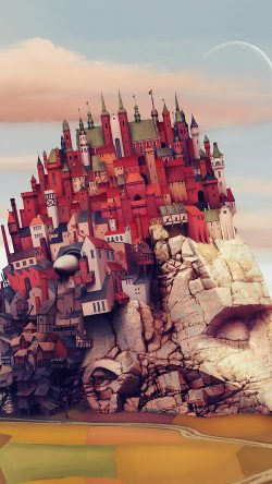 papers.co-ap85-castle-art-illustraion-mountain-color-33-iphone6-wallpaper