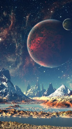 papers.co-aq10-dream-space-world-mountain-sky-star-illustration-33-iphone6-wallpaper
