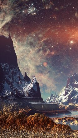 papers.co-aq11-dream-space-world-mountain-sky-star-illustration-flare-33-iphone6-wallpaper