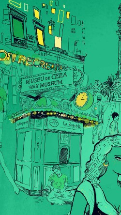 papers.co-aq23-wax-museum-art-illustration-green-street-33-iphone6-wallpaper