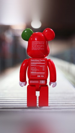 papers.co-aq35-bearbrick-toy-red-art-33-iphone6-wallpaper