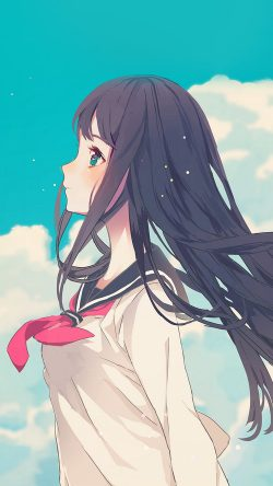 papers.co-ar10-cute-girl-illustration-anime-sky-33-iphone6-wallpaper