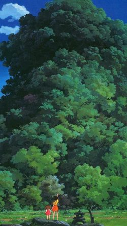 papers.co-as20-studio-ghibli-tree-green-art-illustration-love-anime-33-iphone6-wallpaper