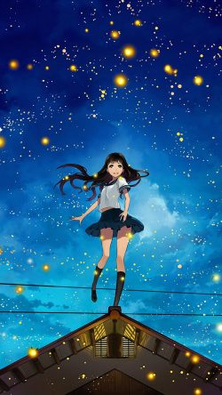 papers.co-au46-girl-anime-star-space-night-illustration-art-33-iphone6-wallpaper
