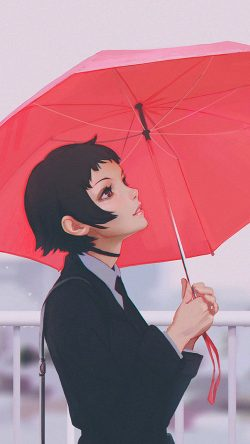 papers.co-av01-girl-rain-umbrella-ilya-kuvshinov-red-illustration-art-33-iphone6-wallpaper