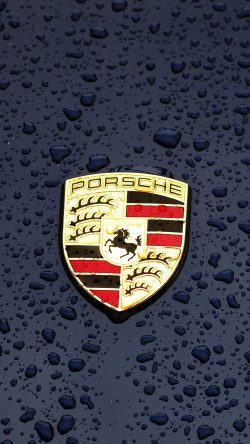 iphone6paperscom iphone 6 wallpaper ax14 porsche logo emblem car illustration art - Porsche Logo Wallpaper Iphone